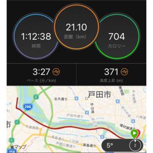 【勝田14日前】ハイテクハーフマラソンを72:40で走りました