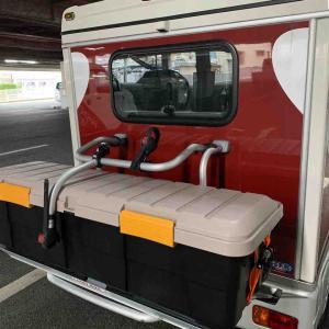 インディのサイクルキャリアにカートランクを設置してみた