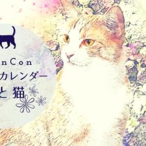 インスタで話題のNyanConから寄付につながるオリジナル日めくりカレンダー「花と猫2019」が発売