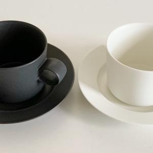【当選品】北欧テイストの白黒食器。ヤマザキビスケットの懸賞でマグカップのセットが当たりました。
