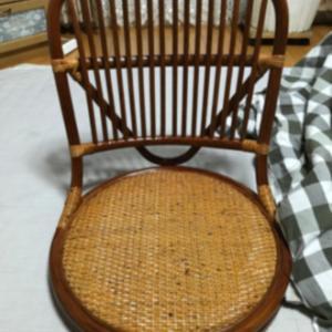 藤の座椅子を購入しました