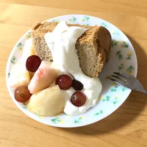 夫の誕生日と紅茶のシフォンケーキ
