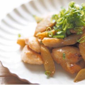 塩麹鶏肉とごぼうの炒めもの