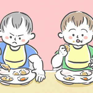 双子の離乳食完了期、取り分けレシピと献立の記録