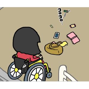 ○○の多い、車いすの私です