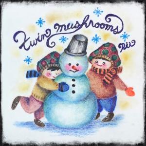 《らくがき》twin mushrooms