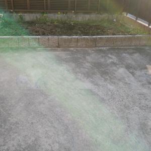 畑の縮小&駐車場拡張