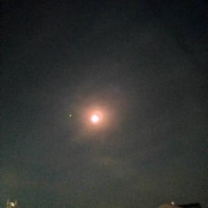 月と星と夜の散歩
