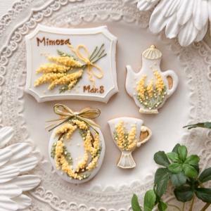 ミモザの日のミモザクッキー