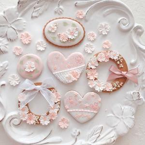 桜のアイシングクッキー第二弾♡