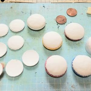 クローバー柄の、お皿(丸皿・食器)・ミニチュアの作り方ブログ