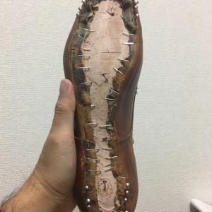 中古靴リメイク1足目【釣り込み】