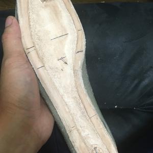 中古靴リメイク1足目【中底の製作】