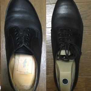 中古靴の解体-ホーキンス エアーライト- 【アッパーの取得】