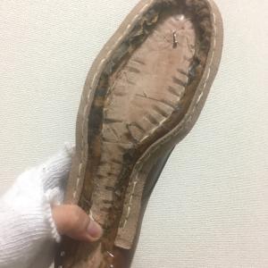 中古靴リメイク1足目【スクイ縫い】