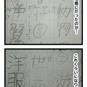 漢字の書き取り、頑張ってます