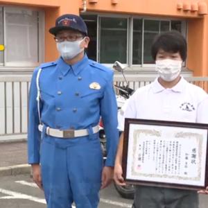自転車で高速道路を走っていたボケ老人を注意した男性、警察から表彰される