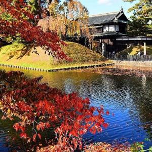 秋深まる弘前公園