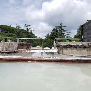 爽快で豪快な 超丸見え👀 混浴 野天風呂 蒸ノ湯温泉♨