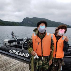 十和田湖で ボートアドベンチャー✨ 体験~~