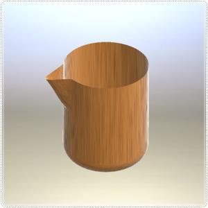 3DCAD でモデリング  注ぎ口のあるカップ