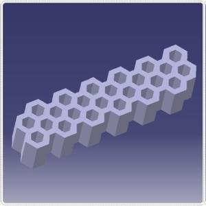 3DCAD でモデリング  ハニカム構造を使う