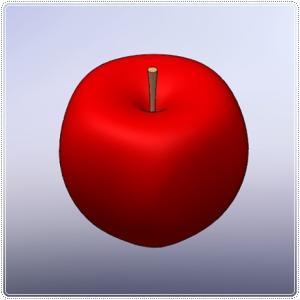 3DCAD でモデリング  りんご