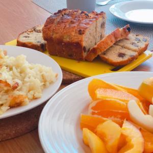【週末日記】ストレッチとおいしい朝ごはんで始まる日曜日