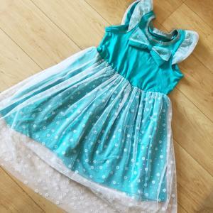 おうちでプリンセス❤楽チンニットのエルサ風ドレス!