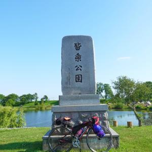 月形皆楽公園にて初めての自転車キャンプ