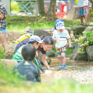 夏の水遊びデイキャンプ@平和島公園キャンプ場