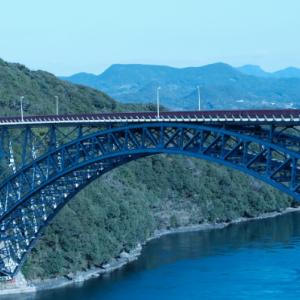 橋から眺める風景