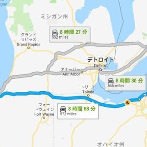 シカゴからナイアガラの滝へ!! 出張で片道920kmのロングドライブ。
