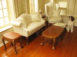 シルク記事の爽やかミニチュア家具