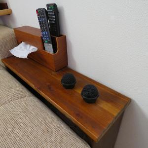 我が家のDIYシリーズ②シアタールームをカラオケボックスにするサイドテーブル