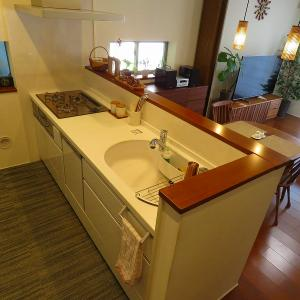 【web内覧】対面式キッチンで老夫婦の会話も弾む(と思われる)親世帯の台所