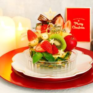 フルーツでクリスマスデコレーション♪