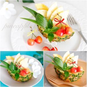 【フルーツスタイリング】パイナップル&さくらんぼでスタイリング