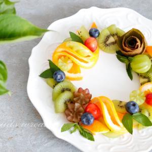 【フルーツスタイリング】ドーナツ型に並べるだけ!フルーツリース