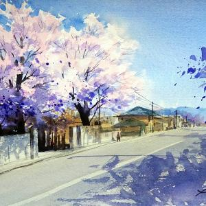 桜の木を練習しましょう!