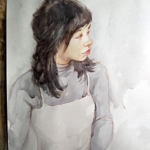 今日描いた若い女性モデル