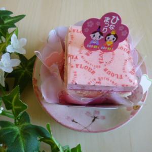 フラワー ひな祭りケーキ