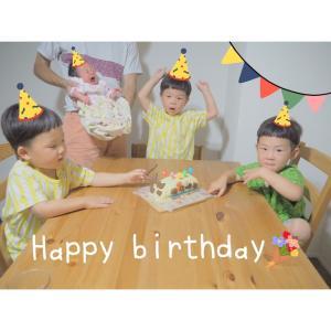 \三つ子、4歳のお誕生日♡/