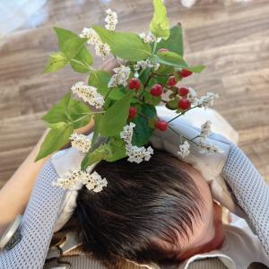 赤ちゃんと可愛いお花②✿