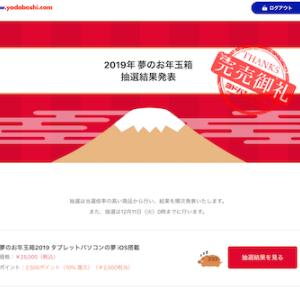 ヨドバシカメラ夢のお年玉箱2019を購入できるか?