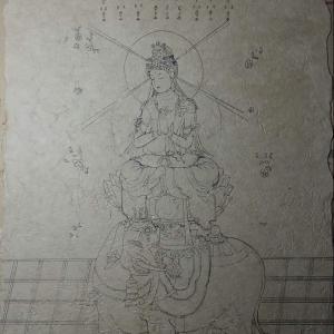 「普賢菩薩像」 下絵。。