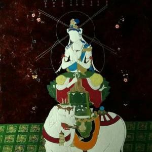 「普賢菩薩像」菩薩さんの下地作り。。