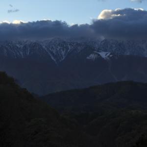 白馬で綺麗に見えたので見晴台へいったのですが、雲がかかってしまいました・・・