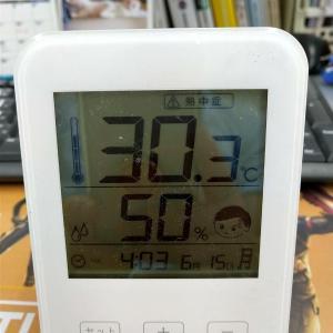 今日一番暑かった時間