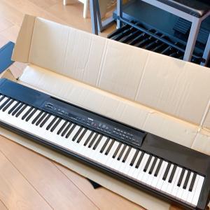 生徒宅に電子ピアノをレンタル